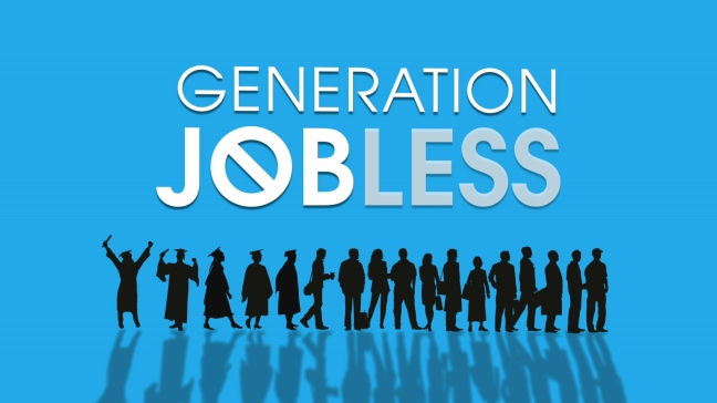 """Generation Jobless"" logo from Dreamfilm.ca"